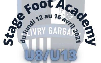 J-1 avant le stage Foot Academy U8/U13