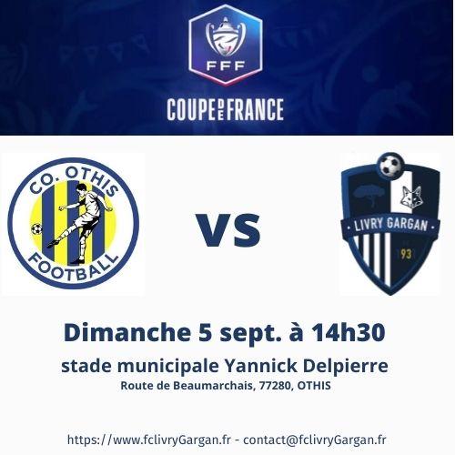 Coupe de France : nos séniors R2 affrontent l'équipe OTHIS C.O.