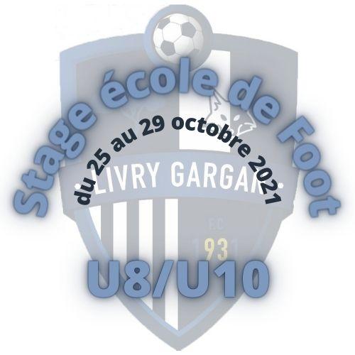 Début du stage Ecole de Foot des U8/U10 le 25 octobre 2021